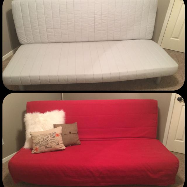 find more ikea beddinge lovas futon sofa bed red cover like new rarely used except for. Black Bedroom Furniture Sets. Home Design Ideas