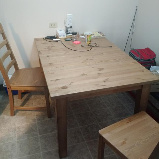 Ikea Stornas Extendable Dining Table Antique Stain