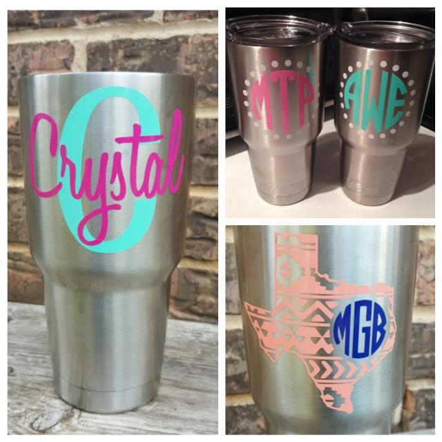 Custom Personalized Yeti Cup Decal