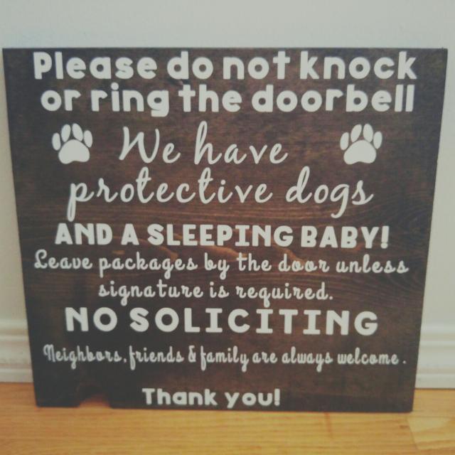 Best Do Not Ring Doorbell Front Door Sign For Sale In Cochrane