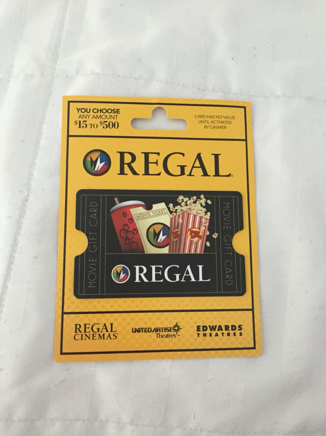 Find More 15 Regal Cinema Gift Card For Sale At Up To 90 Off