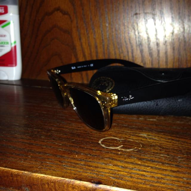 36b01d78133 Best Ray Bans Gold See Through Front Black Sides. No Scratches With Box  Case And Cleaning Cloth. 90 Obo for sale in Sumter