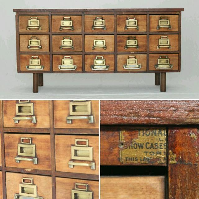 Find More 15 Drawer Library Card Catalog Cabinet For Sale At Up To