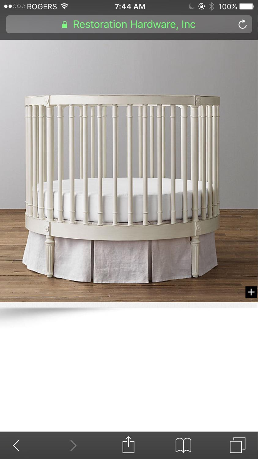 Ellery round crib for sale - Find More Restoration Hardware Ellery Round Crib For Sale At Up To 90 Off Etobicoke On