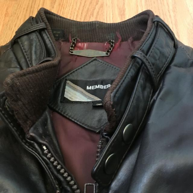 best vintage leather members only jacket men size 36 for sale in