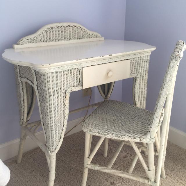 Old antique wicker desk and chair - Find More Old Antique Wicker Desk And Chair For Sale At Up To 90% Off