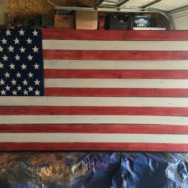 Wooden American Flag Gun Case