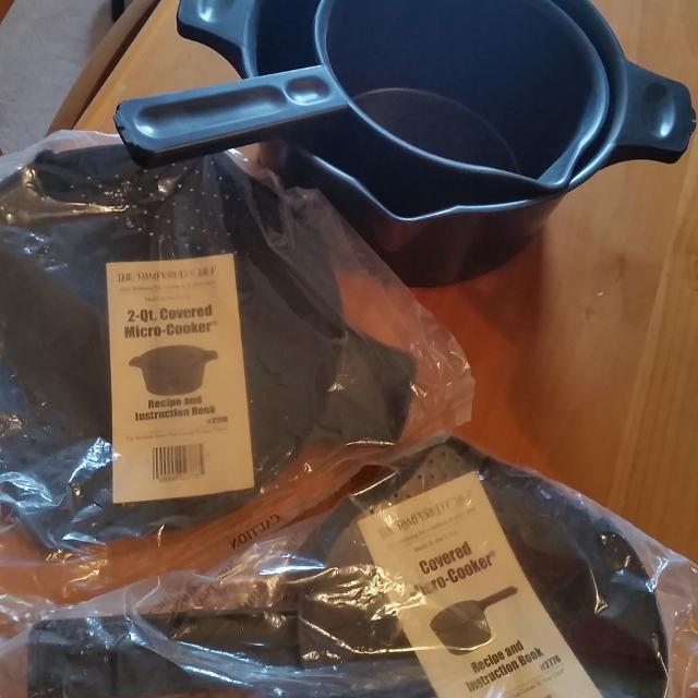 Find More Pampered Chef Covered Micro Cooker Set Brand New Meet