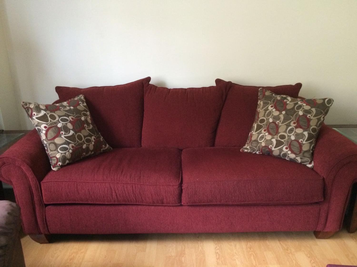 Red Reese Chenille Sofa
