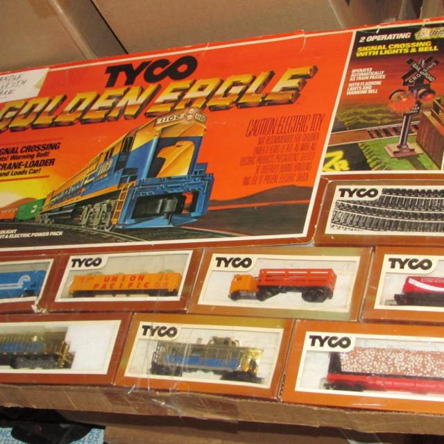 Tyco Brown Box: Best Tyco Golden Eagle Train Set 1980 Complete In Boxes