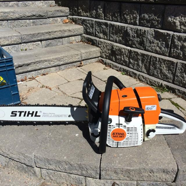 Never Used Stihl Ms361 Gas Chainsaw Comes With Case Picture In Comments Paid Over 700 Asking 350 00 No Low Ballers Please