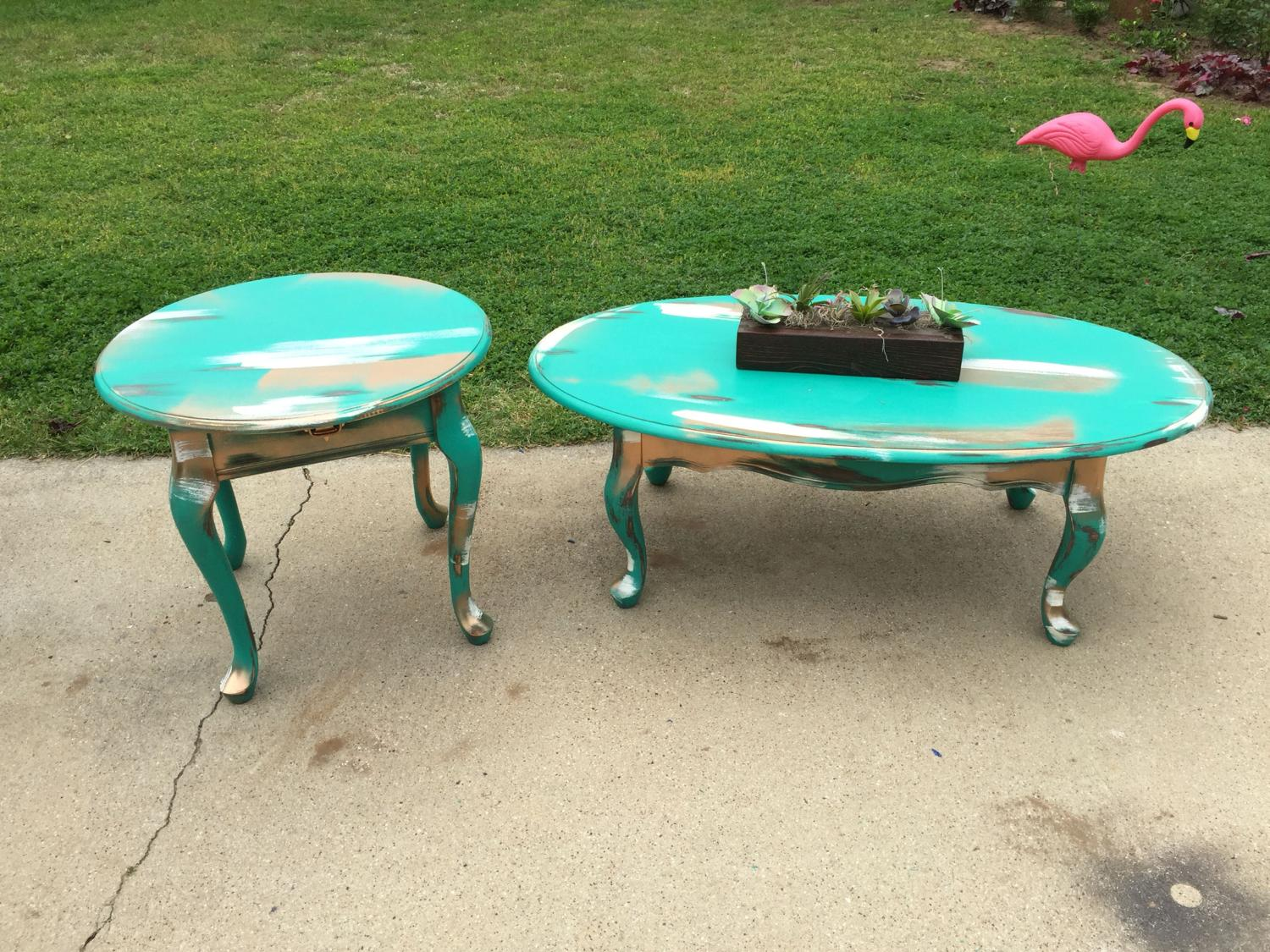 Best Rustic Coffee And End Table Set For Sale In Denton