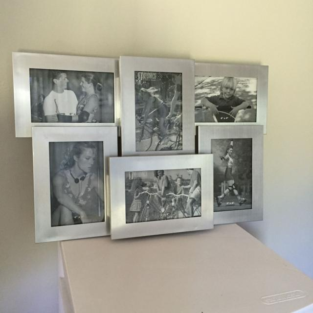 Find More Metal Collage Frame Holds 6 4x6 Photos Can Stand Or