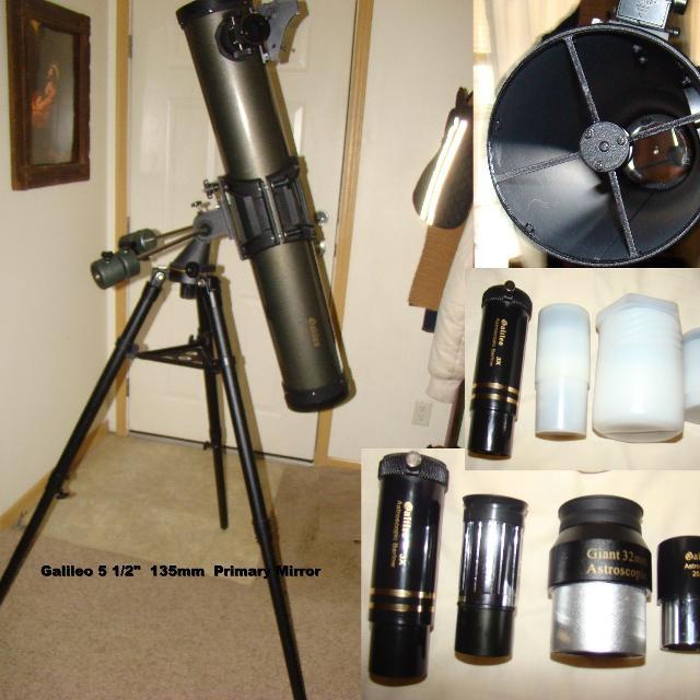 Best Galileo Fs 135dx Reflector Telescope 5 1 2inch