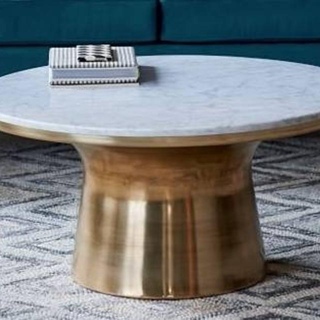 Find More West Elm Marble Topped Pedestal Coffee Table For Sale At