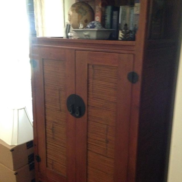 Two Pier 1 armoires; entertainment armoire & desk armoire. $150 for both.  Pickup - Best Two Pier 1 Armoires; Entertainment Armoire & Desk Armoire