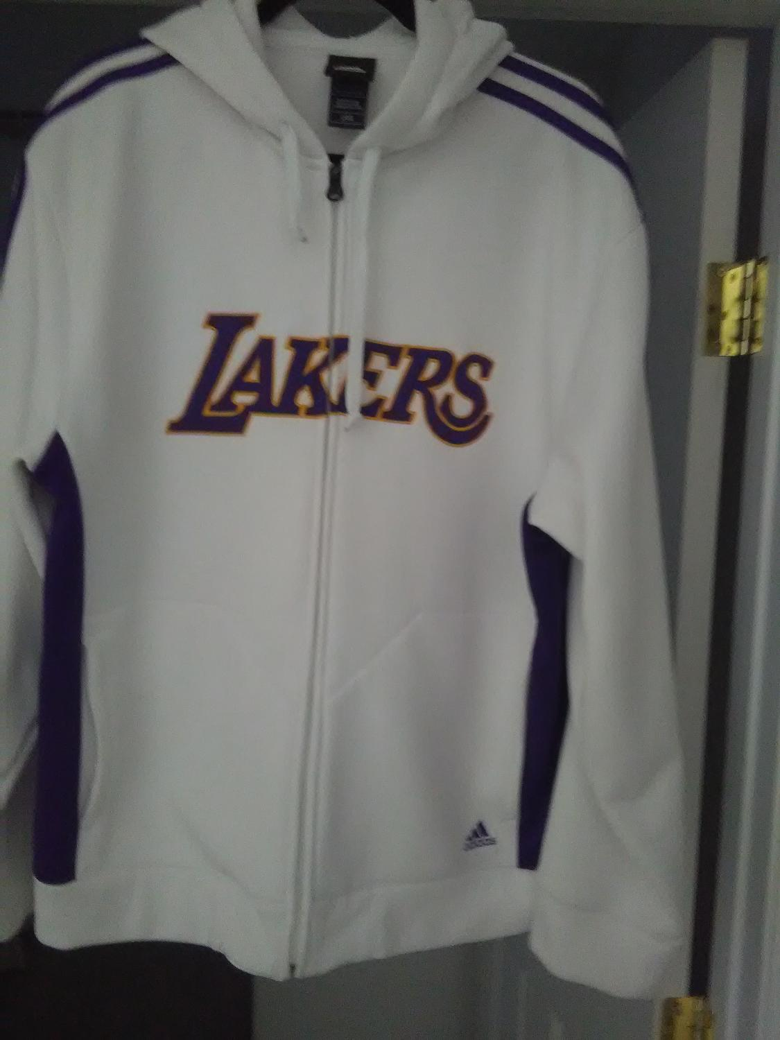 Best Lakers Zip Up Hoodie Size Large Addidas For Sale In Henderson Nevada For 2020