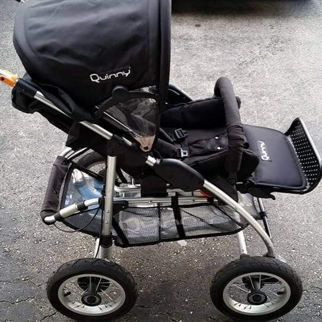 how to put up a quinny pushchair