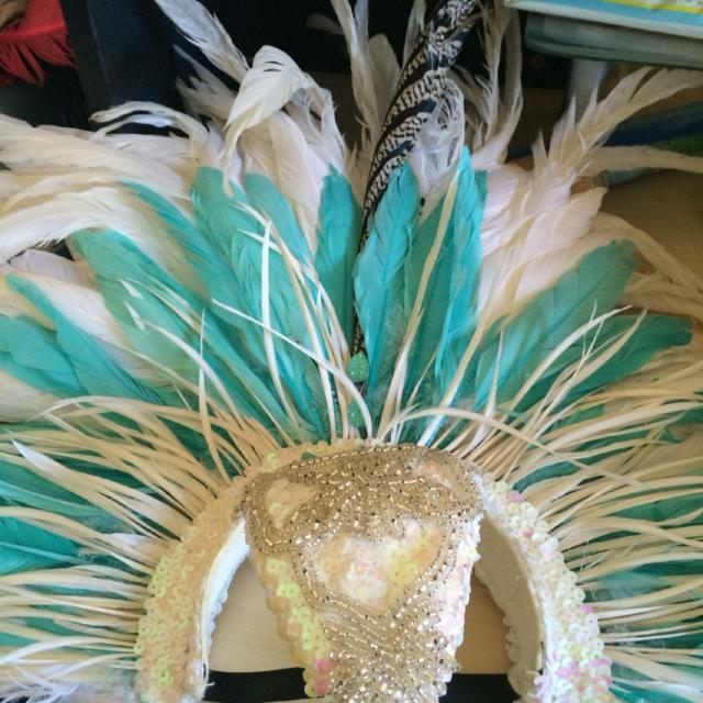 Caribana custom made costume headpieces from the Toronto Revellers band