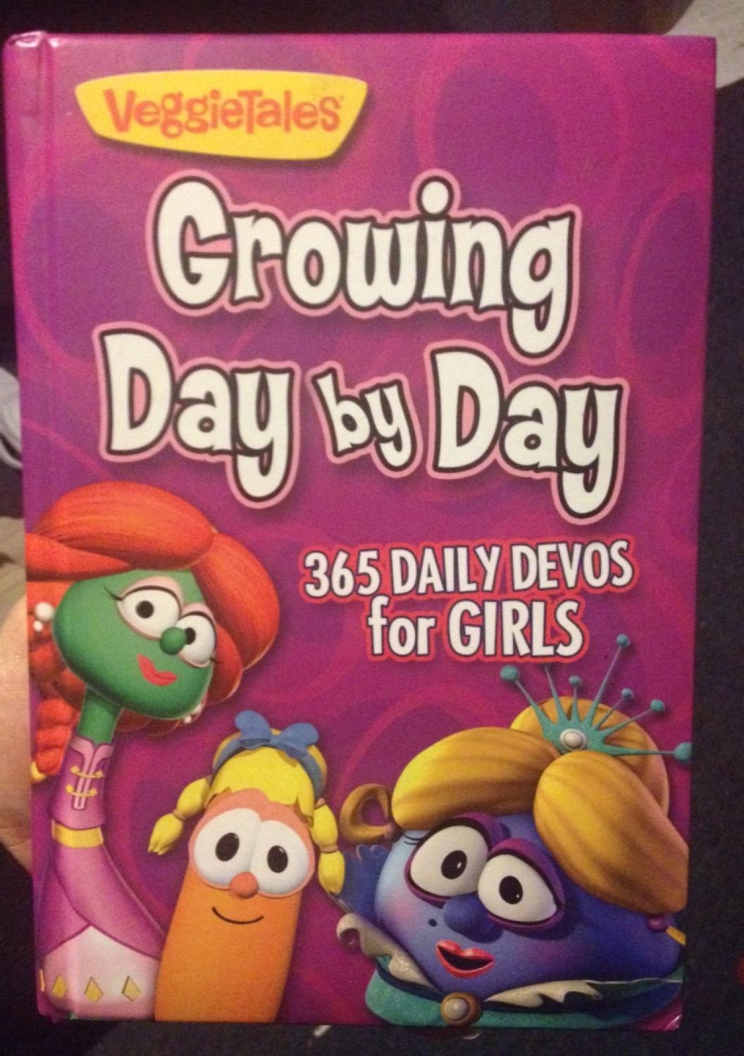 Find more Veggietales Growing Day By Day - 365 Day Devotional For Girls -  Like New for sale at up to 90% off