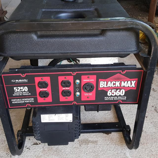 Find More Black Max 5250 Watt Generator With Subaru Engine For Sale At Up To 90 Off