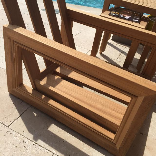 Restoration Hardware Teak Outdoor Chairs
