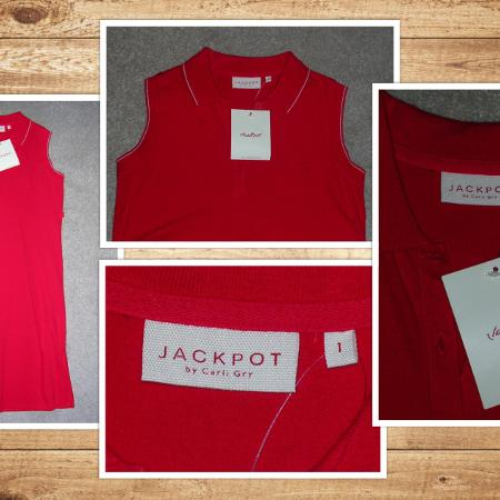 JACKPOT Red Pique Golfer Dress size S... for sale  Canada