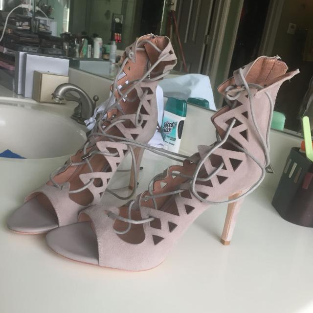 04b1166296b4 Find more Joie Quinn Suede Lace Up Open Toe Sandals for sale at up ...