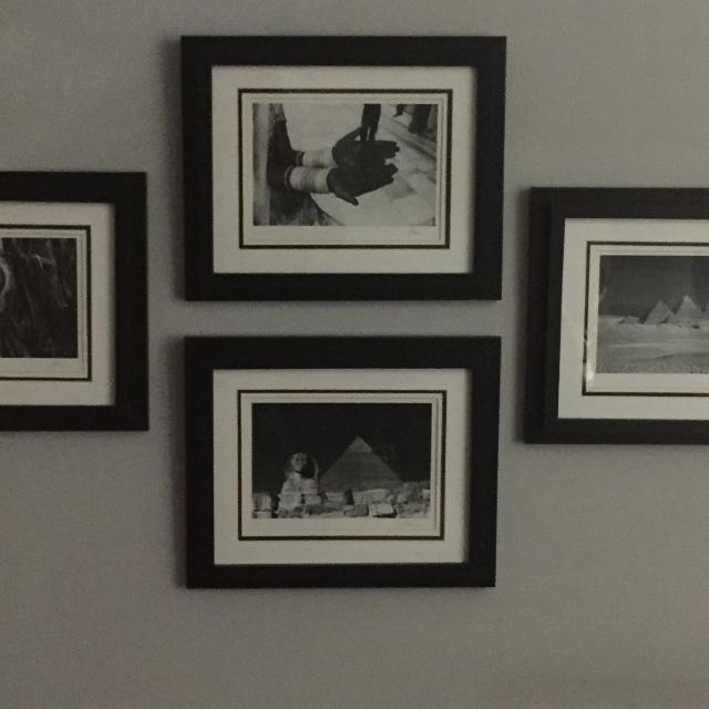 Set of 4 signature series jesse kalisher gallery black and white framed art asking 20