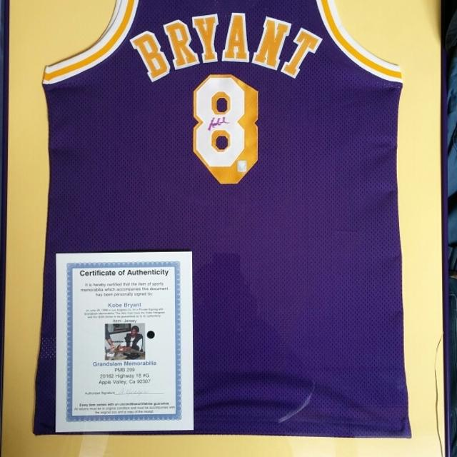 29faab8df05 Best Kobe Bryant Autographed Framed Rookie Jersey for sale in Milwaukee