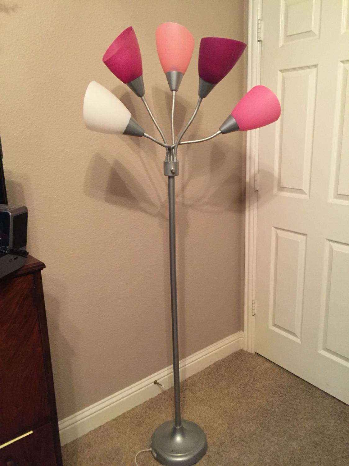 Find more 5 light pink floor lamp euc for sale at up to 90 off mozeypictures Images