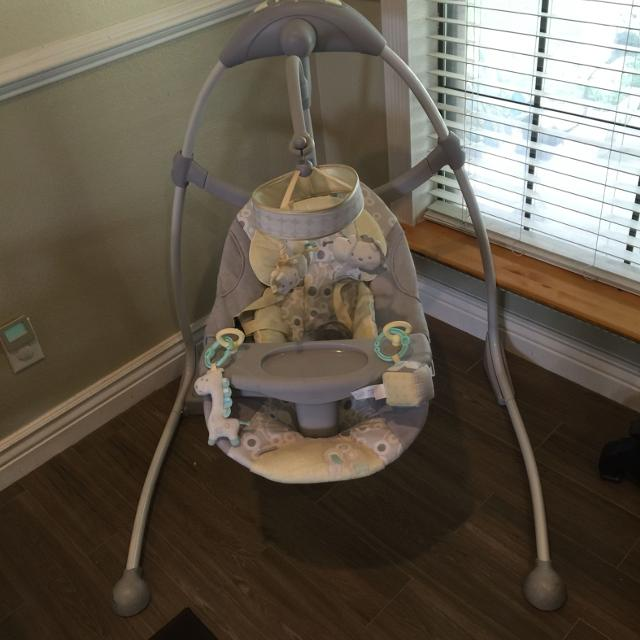 Find More Reduced Ingenuity Hybridrive Baby Swing Excellent