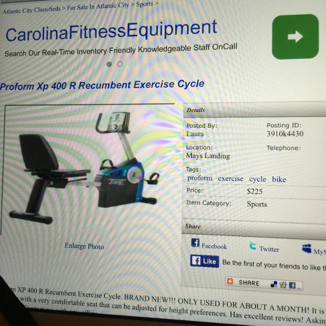 Find More Proform Xp 400r Recumbent Bike For Sale At Up To 90 Off
