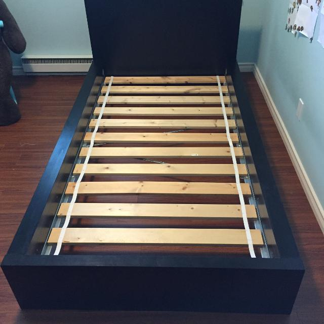 Ikea Malm Twin Bed Frame Low Black Brown