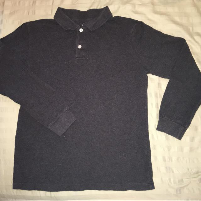 1f6a303db Best Old Navy Long-sleeved Collared Polo - Size 10-12 Regular - 100% Cotton  - Boys. Dark Gray In Color. for sale in Appleton