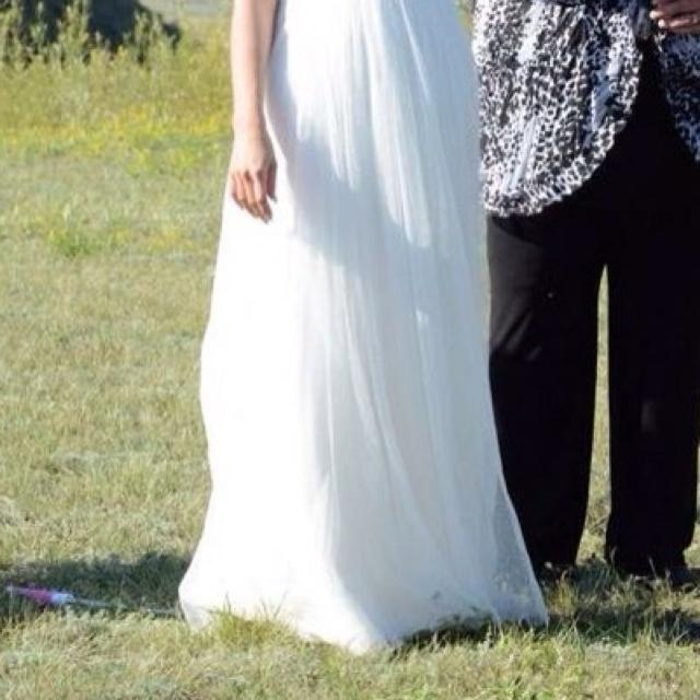 Best Galina Swiss Dot Tulle Wedding Gown. Size 2. for sale in Regina ...
