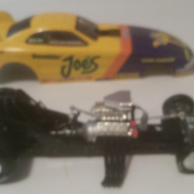Die cast collectible Joe camel funny car