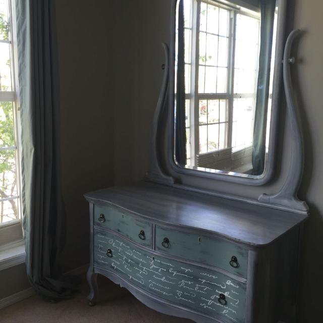 Find More Chalk Painted Antique Dresser With Mirror For Sale At Up