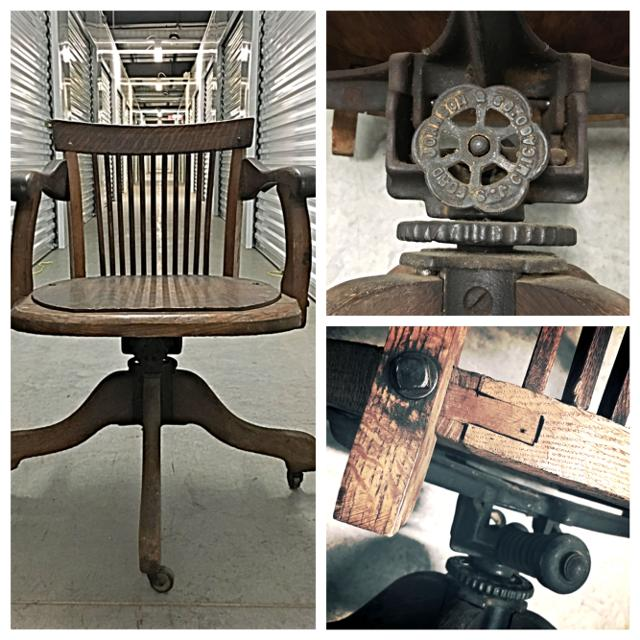 Extremely Rare 1872 Vintage Ford & Johnson Antique Bankers Chair - Fixer  Upper Industrial Style for sale in Spring Hill, Tennessee for 2019 - Best Make An Offer! Extremely Rare 1872 Vintage Ford & Johnson