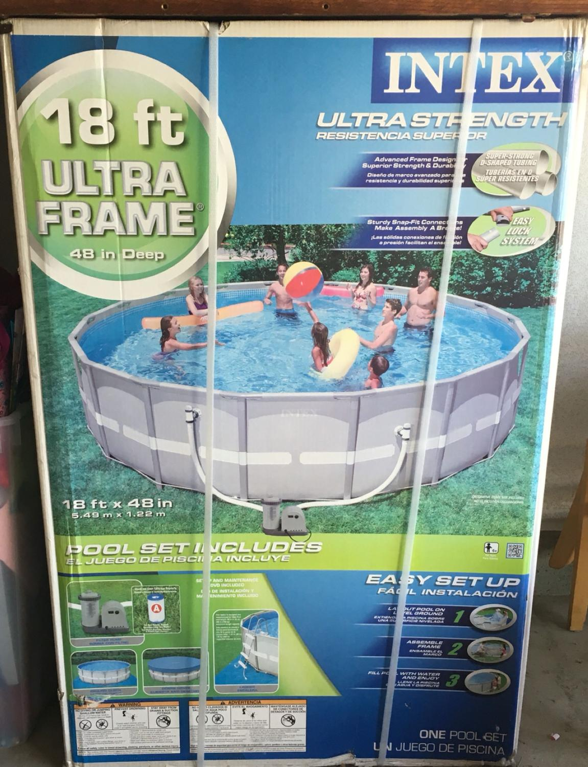 Find more Intex 18 Ft. Ultra Frame Pool Brand New In Box- Make A ...