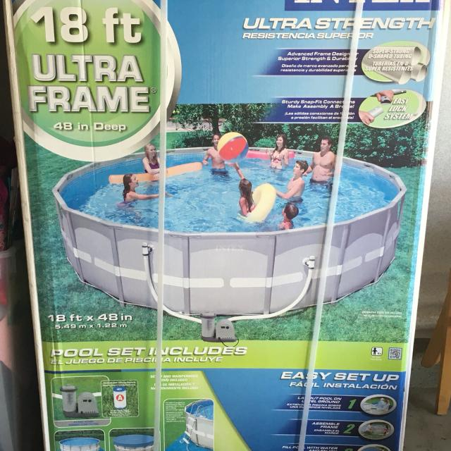 Find More Intex 18 Ft Ultra Frame Pool Brand New In Box Make A Reasonable Offer For Sale At