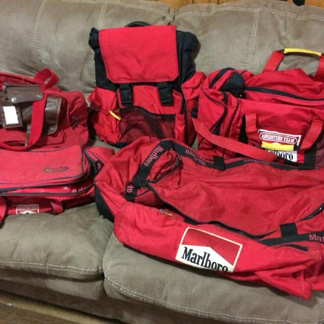 Marlboro Gear Bags 1 Backpack 2 Duffle Insulated Cooler Bag