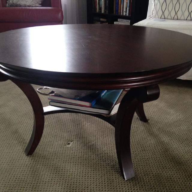 Find More Beautiful Bombay Company Round Mahogany Coffee Table Three Feet Across Some Fine Scratches On The Top For Sale At Up To 90 Off