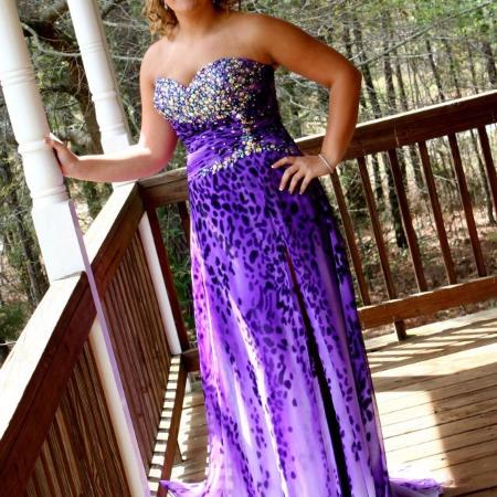 55269364e9c Prom dress. Worn once. Size 14. Absolutely nothing wrong with it.