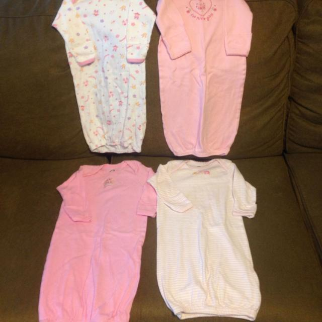 Find more Baby Girl Open Feet Sleeper Gowns All Sizes 0-6 Months. In ...