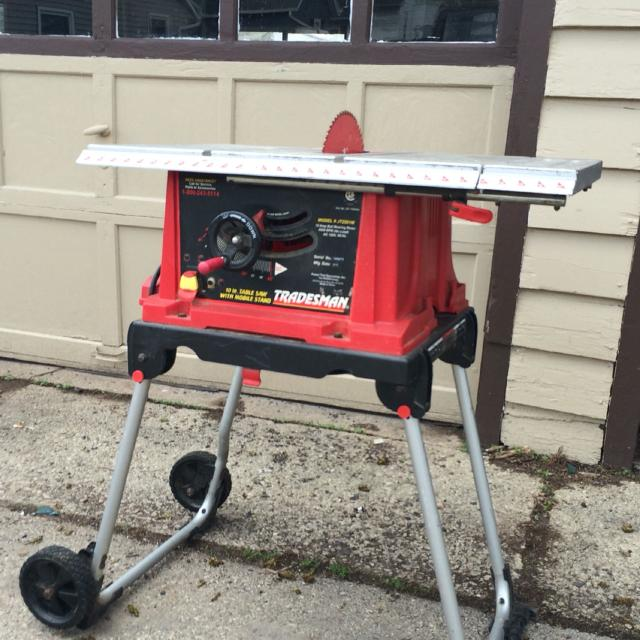 Find more Tradesman 10 In. Table Saw With Mobile Stand for sale at up to  90% off