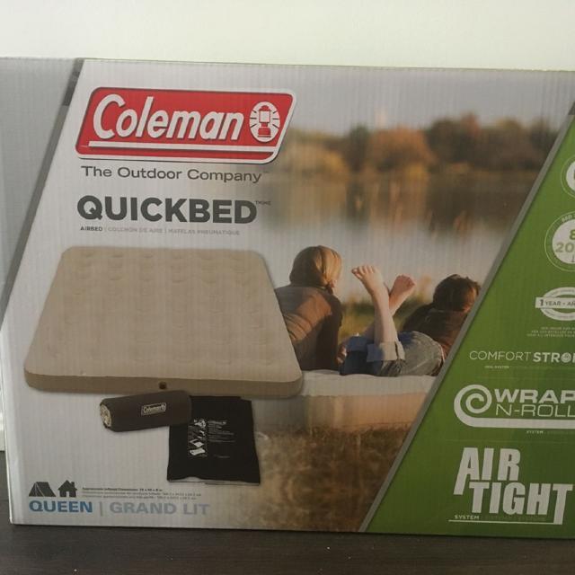 Best Colesman Outdoor Indoor Blow Up Bed Brand New Queen Size