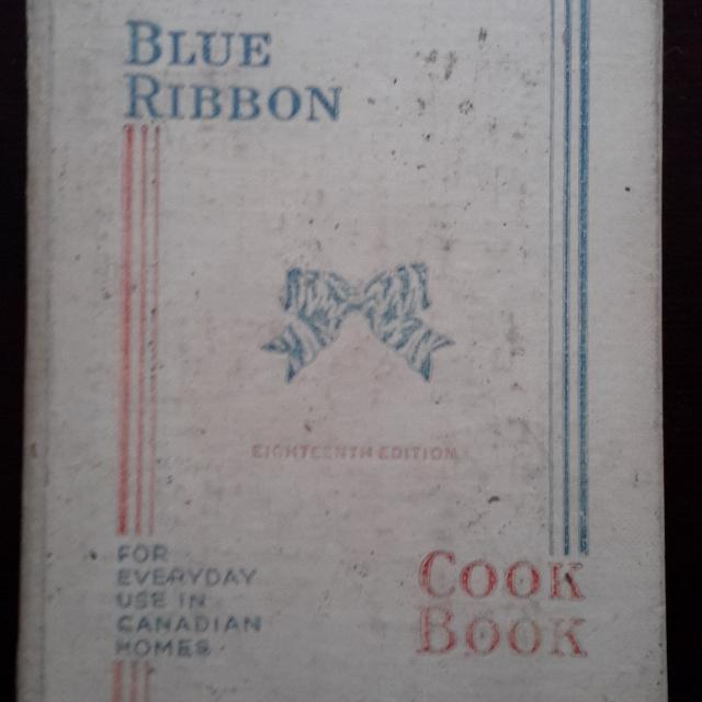 Blue Ribbon Cookbook 18th Edition 1945