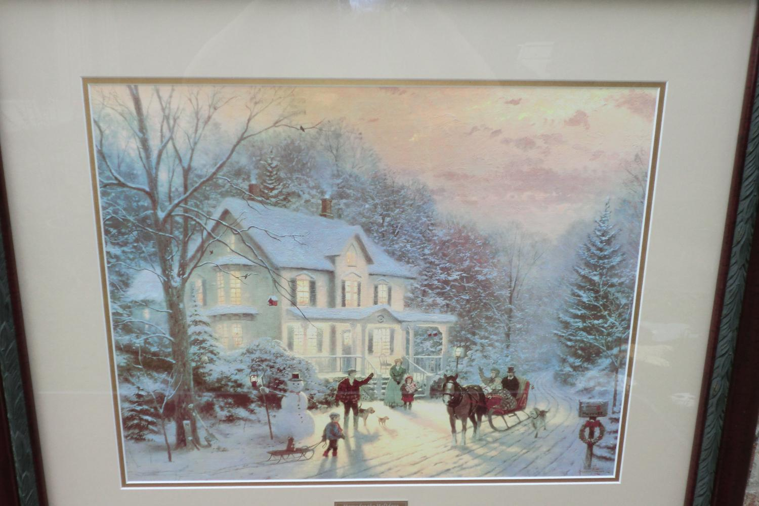 Find more thomas kinkade home for the holidays library - Home interiors thomas kinkade prints ...