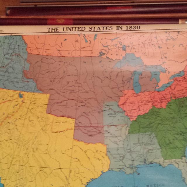 Find More Large Old School Us Pull Down Map George Cram For Sale At